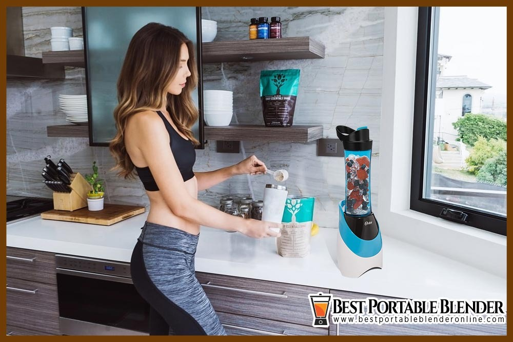 girl-preparing-her-post-workout-protein-shake-in-oster-BLSTPB-WBL-my-blend